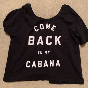 black graphic victorias secret sleep tee